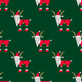 Christmas goat pattern. Seamless pattern with christmas goat Stock Photography