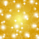 Christmas gold abstract background Stock Photography