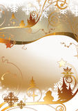 Christmas gold background Stock Images