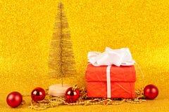 Christmas gold background royalty free stock image