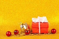 Christmas gold background stock image
