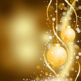 Christmas gold background Royalty Free Stock Photos