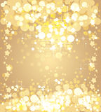 Christmas gold background. Vector template stock illustration