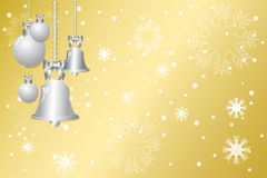 Christmas gold background Royalty Free Stock Image