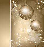 Christmas gold background with ball. Vector Stock Images