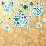 Christmas gold background with baubles. EPS 10 Stock Photos