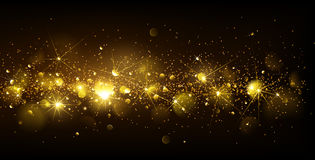 Christmas Gold Background Royalty Free Stock Images