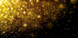 Christmas Gold Background Stock Photos