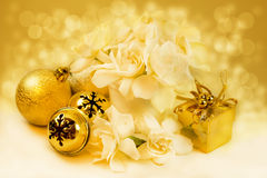 Christmas gold background Stock Photography