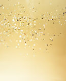 Christmas gold background. Royalty Free Stock Images