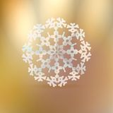 Christmas gold background with snowflake. Royalty Free Stock Images