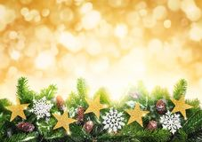 Christmas gold background Stock Photo
