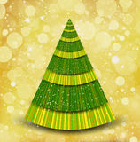 Christmas gold background with tree Stock Photo