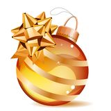 Christmas gold ball isolated Stock Image