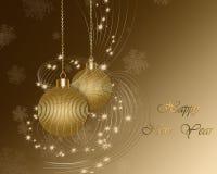 Christmas gold balls. Christmas background with Christmas gold balls Stock Photo