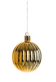 Christmas gold bauble Stock Photography