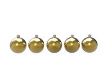 Christmas gold baubles pack Royalty Free Stock Photo
