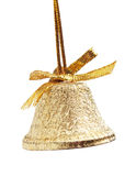 Christmas gold bell Stock Image