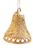 Christmas gold bell Stock Photo