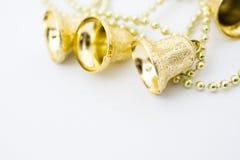 Christmas gold bells Royalty Free Stock Photos