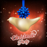 Christmas gold bird background. EPS 10 Royalty Free Stock Image