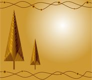 Christmas gold card Stock Photo