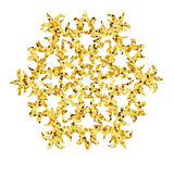 Christmas gold card with snowflake. Stock Photography