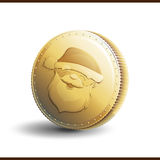 Christmas gold coin Royalty Free Stock Image