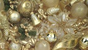 Christmas gold decoration Stock Photos