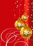 Christmas. Gold decorations Royalty Free Stock Photography