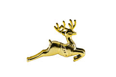 Christmas gold deer Royalty Free Stock Photo