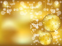 Christmas gold design Stock Image