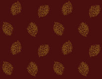 Christmas gold fir-cone paper stock illustration