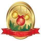Christmas gold frame Royalty Free Stock Photo