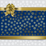 Christmas gold gift Royalty Free Stock Images