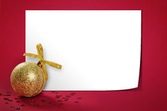 Christmas gold glitter bauble Stock Photos