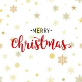 Christmas gold glittering lettering pattern illustration design. Greeting holiday decoration seamless background.  Stock Image