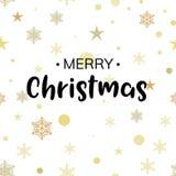 Christmas gold glittering lettering pattern illustration design. Greeting holiday decoration seamless background.  stock illustration