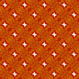 Christmas gold and orange seamless pattern of fabric Stock Image