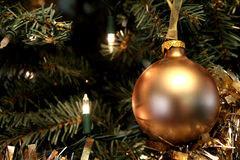 Christmas gold ornament Stock Photography