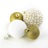 Christmas Gold Ornaments Royalty Free Stock Photography