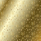 Christmas gold pattern Stock Image