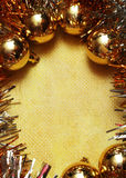 Christmas Gold Postcard Royalty Free Stock Images