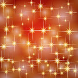 Christmas gold red stars Royalty Free Stock Photos