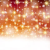 Christmas gold red stars Stock Images