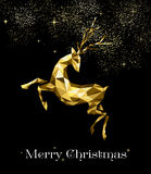 Christmas gold reindeer ornament decoration Royalty Free Stock Photography