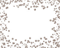 Christmas gold sequin styled mock-up desktop image with a white background Royalty Free Stock Images