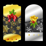 Christmas gold and silver price tags Stock Images