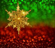 Christmas Gold Snowflake stock images