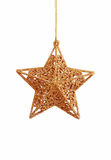 Christmas gold star Royalty Free Stock Photos
